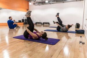 Pilates class at Gym Plus