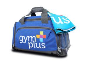 Gym Plus Kit Bag and Sweat Towel