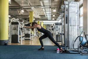 Strength training machine at Gym Plus